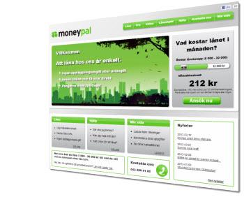 Moneypal webbsida