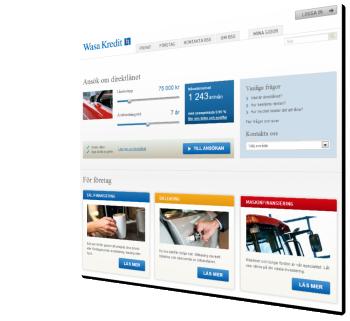 Wasa Kredit webbsida
